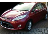 Ford Fiesta 2009 1.25 Zetec Red Factory fitted Bluetooth, USB and privacy glass.