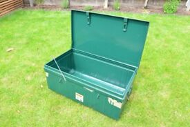 Three (3) Metal Trunks for sale - 80L 90L and 100L