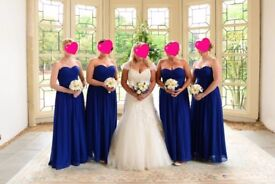 3x Bridesmaid dresses (cobalt/royal blue)