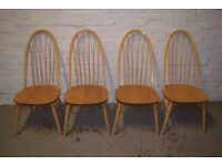 Four Ercol Quaker Chairs (DELIVERY AVAILABLE)