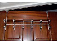 Over door metal hooks