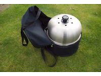 BBQ -Cobb Premier Complete with Bag and Cookbook - AS NEW! Camping / Festivals / Sailing /Compact