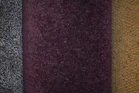 100% Polypropylene Carpet Wool Tech Aubergine 4m x 5m (159)
