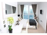 Stunning 20th floor one bedroom flat in Altitude Point, E1, designer furnished, balcony, 24hr porter