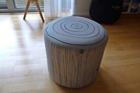 Woody Ottoman foot stool, foot rest