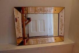Exquisite Venetian Glass Mirror