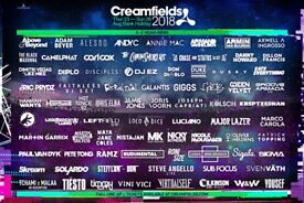 4 Day Silver Camping - Creamfields 2018. Includes FREE parking & campsite pamper hub.