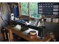 Excellent, Solid Built, Wood Lathe for Beginners or Experianced Wood Turners with extension bedways.