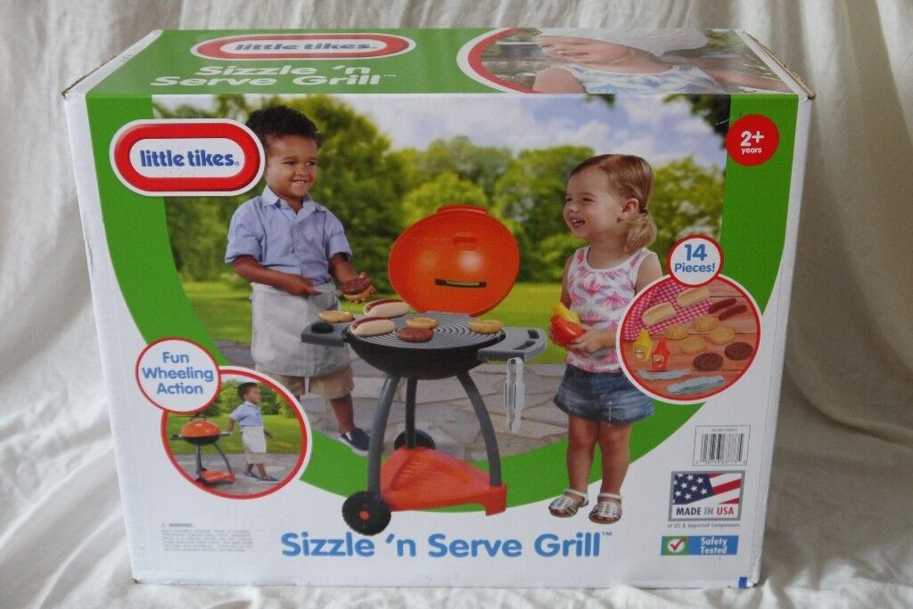 Little Tikes Sizzle And Serve Grill Bbq Kitchen New Age 2 Years 14 Pieces