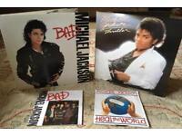 "Michael Jackson LPs & 7"" *LIMITED EDITION POSTER BAG SLV*"