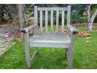 Wooden garden armchair