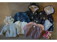 12x piece girls 3-6 month winter clothing bundle