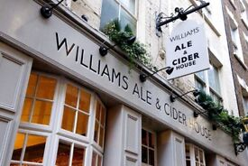 Fun, experienced Bar Staff for Spitalfields Ale and Cider House