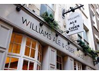 Fun, experienced Bar Staff for specialty Spitalfields pub