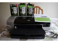 HP Photosmart Pro B8350 A3+ Photo Printer with some new ink cartridges.