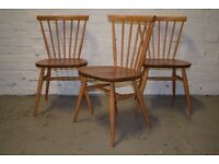 Ercol Retro Dining Chairs Golden Dawn (DELIVERY AVAILABLE)