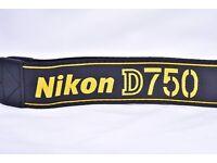 Nikon D750 Genuine Strap - Brand New Never Used