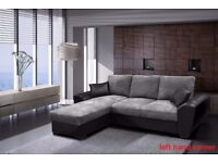 * * BLACK FRIDAY SALE * LUXURY GIANI LEFT/RIGHT HANDED SOFA BED IN LEATHER OR FABRIC * UK DELIVERY *