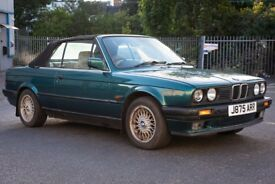 Rare 1991 BMW E30 318i LUX Convertible Manual Right Hand Drive, One of the Last E30 Convertibles!