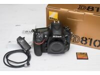 Nikon D810 with CF Card & Remote Trigger