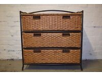 Marks & Spencer Wicker Chest Of Drawers (DELIVERY AVAILABLE)