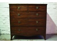 Victorian Chest Of Five Drawers (DELIVERY AVAILABLE)