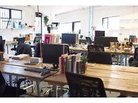 Creative studio in London Fields industrial loft space.