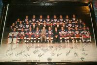 1988-89 Moncton Hawks Team pic- mounted, ready to display