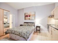 REFURBISHED LARGE STUDIO FLAT AVAILABLE NOW IN SOUTH KENSINGTON, BILLS INCLUDED, 2 MIN TO TUBE
