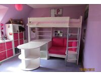 Stompa Casa 4 Highsleeper White Bed (includes mattress)