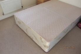 *** Double divan base with 4 drawers in good condition - easy transport ***