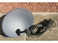 Satellite Dish and cable