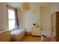 top double - twin bedroom in Hackney, Homerton. Available now. 2 weeks deposit only.