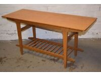 Vintage Oak Coffee Table (DELIVERY AVAILABLE)