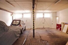 3 large garage spaces to rent within one secured garage in mews road in Marylebone, Central London