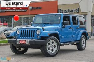2015 Jeep WRANGLER UNLIMITED SAHARA | LEATHER | NAVI | HEATED SE
