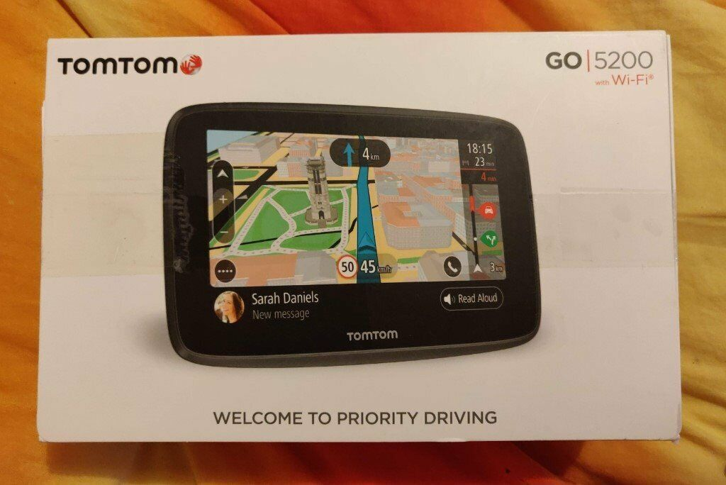 TomTom Go 5200 Sat Nav Wi-Fi Lifetime World Maps Traffic Updates SIM on sat prep book, sat score chart 2014, sat cartoon,