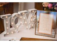 Wedding sign in gold frame