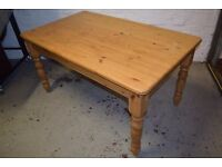 Solid Pine Farmhouse Table (DELIVERY AVAILABLE)