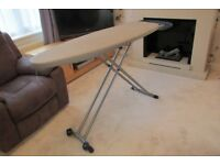 EXTRA WIDTH/LENGTH BRABANTIA IRONING BOARD WITH TWO FRONT WHEELS SELLING DUE TO DOWNSIZING