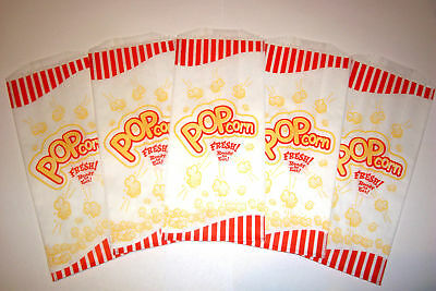 Pop Corn Bags 100 Pcs. 1 Oz Ounce For Theater Parties Movies