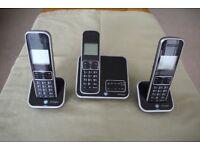 BT INSPIRE TRIO DIGITAL CORDLESS PHONE WITH ANSWER MACHINE