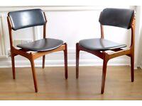 Very rare Set of 6 Vintage Danish Erik Buch model 49 teak chairs. Delivery. Modern / Mid-century.