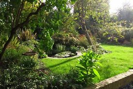 Wonderful large and light two bed flat in a handsome mid-Victorian villa with huge shared garden