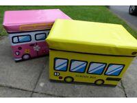 Kids Storage Box Seat x 2