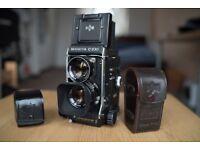 Mamiya C330 F TLR camera with Sekor 80mm f/2.8 blue dot lens - NEW LIGHT SEALS!