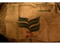 Jute coffee bags. CRAFT. DECORATION, eco, natural