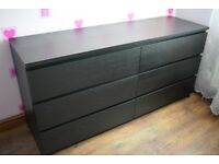 IKEA Malm 6-drawer dresser black