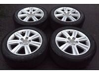 Audi Alloys - 17' - 5x112 - set with tyres - Bargain.