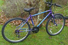 "Raleigh Sabre mountain bike, small/medium 17"" frame, 18 gears, 26"" wheels"
